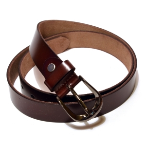 Ремень женский кожаный бордово-коричневый