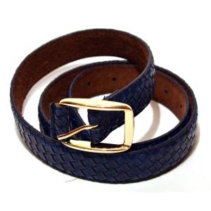 Ремень женский кожаный синий