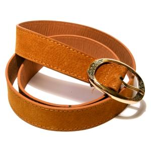 Ремень женский кожаный светло-коричневый