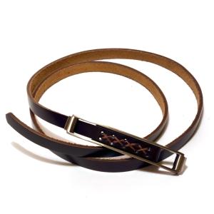 Ремень женский кожаный темно-коричневый