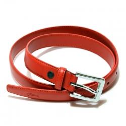 Ремень женский кожаный красный