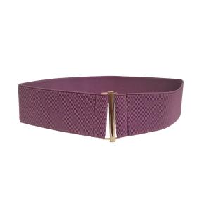 """Широкий ремень-резинка фиолетового цвета """"стержень"""""""
