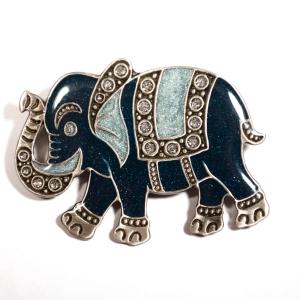 "Брошь ""Синий слон"""