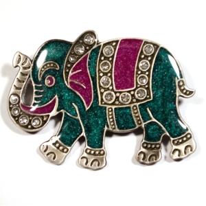 """Брошь """"Зеленый слон"""""""
