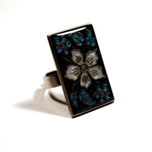 """Кольцо """"Цветок в темном"""""""