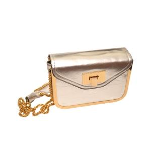 Вечерняя серебристая сумочка