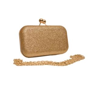 Золотистый искрящийся миниатюрный праздничный клатч