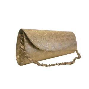Золотистый клатч с тиснением для торжественного случая