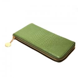 Кошелёк женский кожаный зелёный