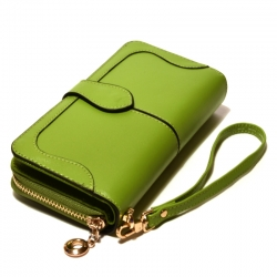 Кошелёк женский кожаный светло-зелёный