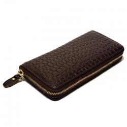 Кожаный женский кошелёк на молнии