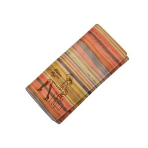 Молодежный кошелёк в разноцветную полоску