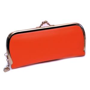 Кошелёк женский кожаный оранжевый