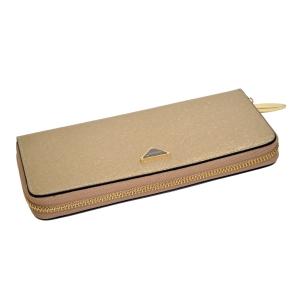 Женский кошелёк-клатч светло-золотистого цвета