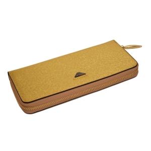 Женский кошелёк-клатч золотистого цвета