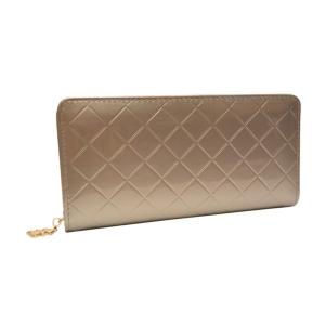 Стильный женский серебристый лаковый кошелёк