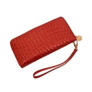 Женский кошелёк лаковый красный