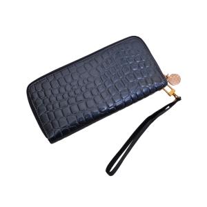 Женский кошелёк лаковый синий