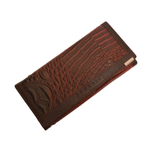 Добротный женский кошелёк бордовый