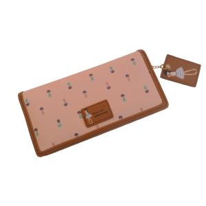 Современный молодежный кошелёк розовый с лилиями