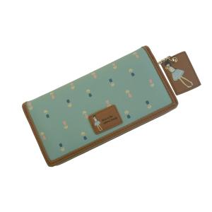 Стильный молодежный кошелёк бирюзовый с лилиями