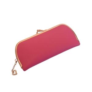 Розовый женский кошелёк с рамочным замком