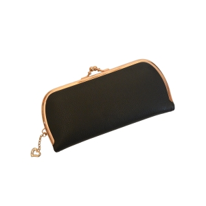 Черный женский кошелек с рамочным замком
