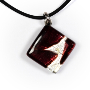 "Кулон Murano ""Bordeaux and silver"""