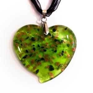 """Кулон """"Green heart"""""""