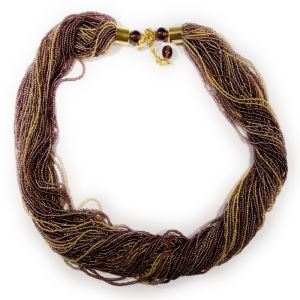 Колье (Morgana) желто-фиолетовое