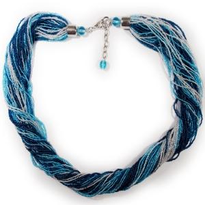 Колье (Morgana) сине-голубое