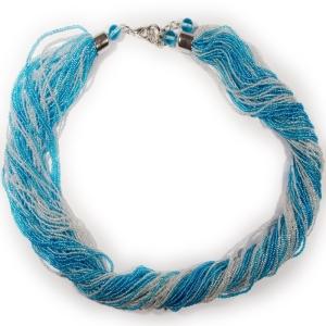 Колье (Morgana) голубо-белое