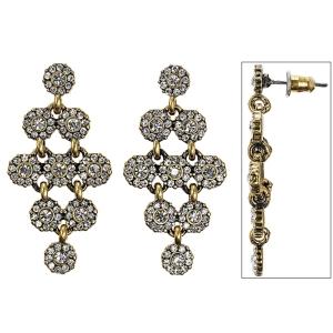 Серьги Pilgrim gold cristal
