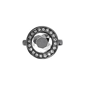Кольцо hematite/crystal
