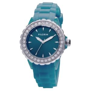Часы Pilgrim Silver Blue в стиле Hi-Tech