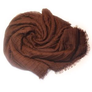 Платок жатый коричневый