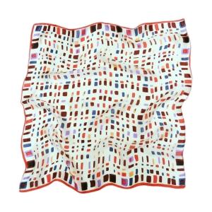 Урбанистический шейный платок из натурального шелка