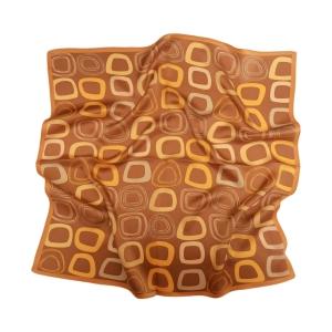 Романтичный шейный платок из натурального шелка бронзового цвета