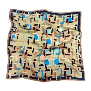 Очаровательный шейный платок из натурального шелка бронзового цвета
