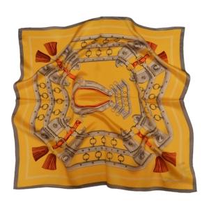 Очаровательный шейный платок из натурального шелка оранжевого цвета «Готика»