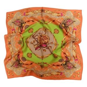 Красивый шейный платок из натурального шелка