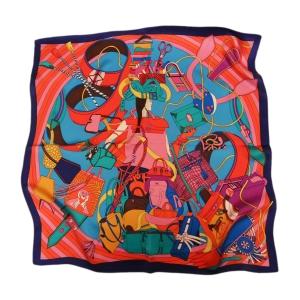 Авангардный шейный шелковый платок