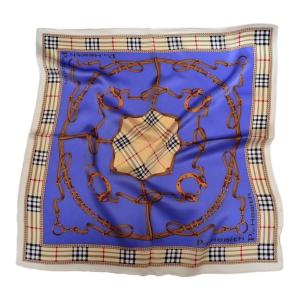 """Стильный шейный платок из натурального шелка синего цвета """"Дерби"""""""