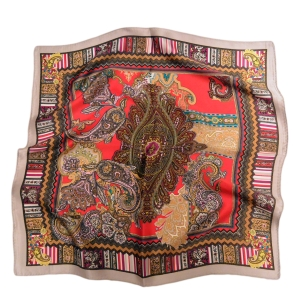 """Утонченный шейный платок из натурального шелка """"Извечная классика"""""""