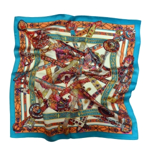 """Гламурный шейный платок из натурального шелка """"Хаотичная гармония"""""""