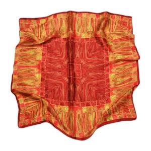 Красочный платок из натурального шелка
