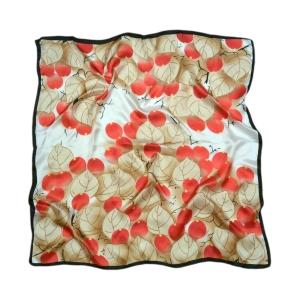 """Шикарный платок из натурального шелка """"Калина красная"""""""