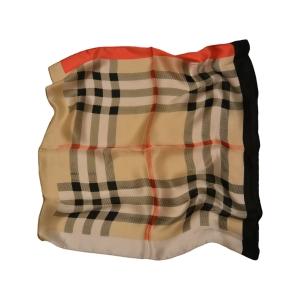 """Платок шейный из натурального шелка """"Шотландская клетка"""""""