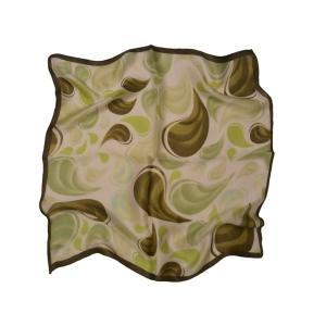 Салатовый шейный платок из натурального шелка