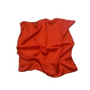 Женский шелковый платок. Однотонный. (алый)